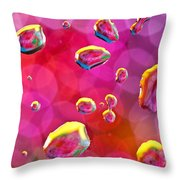 Abstract Colorful Water Drops Throw Pillow