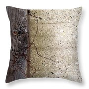 Abstract Concrete 11 Throw Pillow