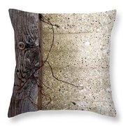 Abstract Concrete 11 Throw Pillow