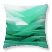 Abstract Cool Waves 2  Throw Pillow