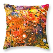Abstract - Crayon - The Excitement Throw Pillow by Mike Savad