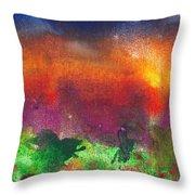 Abstract - Crayon - Utopia Throw Pillow