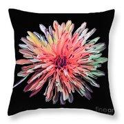 Abstract Chrysanthemum Throw Pillow