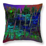 Abstract Cubed 104 Throw Pillow