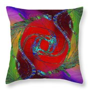 Abstract Cubed 189 Throw Pillow
