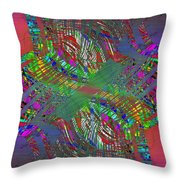 Abstract Cubed 194 Throw Pillow
