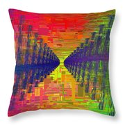 Abstract Cubed 3 Throw Pillow