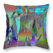 Abstract Cubed 75 Throw Pillow