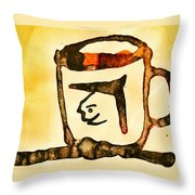 Abstract Cup Throw Pillow