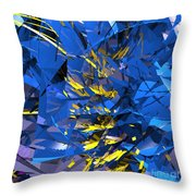 Abstract Curvy 10 Throw Pillow