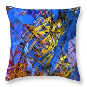 Abstract Curvy 11 Throw Pillow
