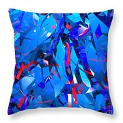 Abstract Curvy 15 Throw Pillow
