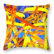 Abstract Curvy 22 Throw Pillow