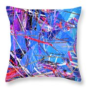 Abstract Curvy 31 Throw Pillow