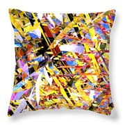 Abstract Curvy 33 Throw Pillow