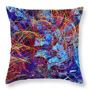 Abstract Curvy 36 Throw Pillow