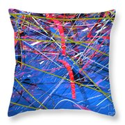 Abstract Curvy 46 Throw Pillow