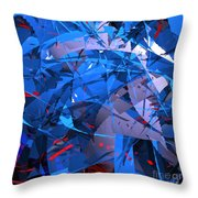 Abstract Curvy 9 Throw Pillow