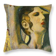 Abstract Cyprus Map And Aphrodite Throw Pillow