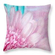 Abstract Daisy Throw Pillow