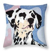 Abstract Dalmatian Throw Pillow