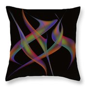 Abstract Dancers Throw Pillow