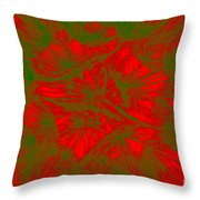 Abstract Dandelion Bloom Throw Pillow
