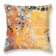 Abstract Decorative Art Original Circles Trendy Painting By Madart Studios Throw Pillow