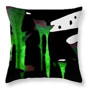 Green Sensation Throw Pillow