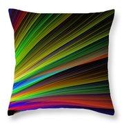 Abstract Digital Fractal Flame Art Throw Pillow