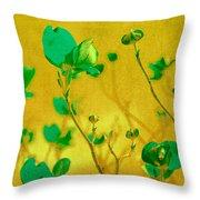 Abstract Dogwood Throw Pillow