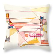 Abstract Drawing Eighteen Throw Pillow