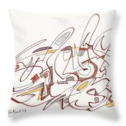 Abstract Drawing Fifteen Throw Pillow