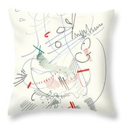Abstract Drawing Fifty-five Throw Pillow