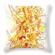 Abstract Drawing Fifty-three Throw Pillow