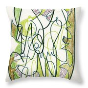 Abstract Drawing Forty-four Throw Pillow