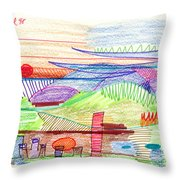 Abstract Drawing Four Throw Pillow