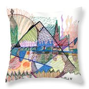 Abstract Drawing One Throw Pillow