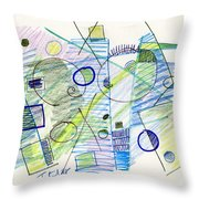 Abstract Drawing Seven Throw Pillow