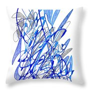 Abstract Drawing Seventy Throw Pillow