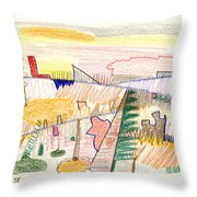 Abstract Drawing Six Throw Pillow