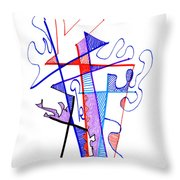 Abstract Drawing Sixty-nine Throw Pillow