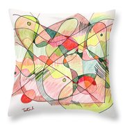 Abstract Drawing Twenty Throw Pillow