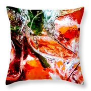 Abstract Drink Throw Pillow