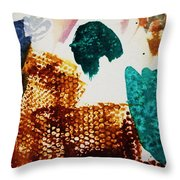 Abstract-duck-dancing Bear And Buffalo Throw Pillow