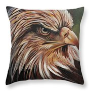 Abstract Eagle Painting Throw Pillow