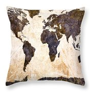 Abstract Earth Map Throw Pillow