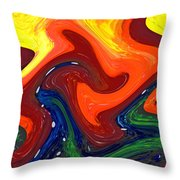 Abstract Eight Of Twenty One Throw Pillow