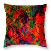 Abstract - Emotion - Rage Throw Pillow