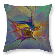Abstract Explosion Throw Pillow